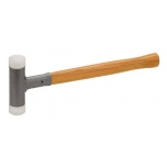 Dead blow soft faced nylon hammer, Ø 32 mm, 600g, Hickory handle