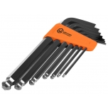 Hex key set 7pcs, 2,5-10mm ball point