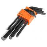 Hex key set 9 pcs, 1,5-10mm