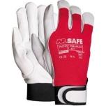 Apsauginės pirštinės M-Safe Tropic Premium, 11 dydis, ožkos oda, Velcro užsegimas.