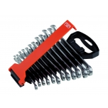 Combination wrenches 111M set 8-19mm 12 pcs in plastic holder