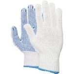 Gloves polyester/cotton with PVC stud