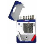 Metal drills set HSS fully ground Clipster PRO 10pcs Ø1-10mm
