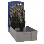 Metal drills set G HSS 25pcs, Ø1-13 mm, fully ground