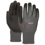 Nylon gloves with nitrile foam coating M-Safe Nitri-Tech Foam 14-690, size 9/L