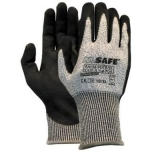 Safety gloves with level 5/D cut resistance M-Safe Palm-Nitrile Cut 5 14-705, nylon/lycra/HPPE/glass fiber, size 8/M