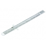 Flexible stainless steel ruler with pocket clip 160mm