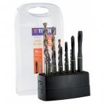 Multi material taps and drills set MGTI M3-M10 + 6 TBX HSCOB drills, 12pcs