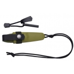 """Morakniv® Eldris Neck Knife Green, Fire Starter Kit"""