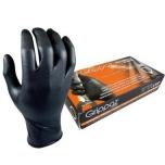 Vienkartinės nitrilinės pirštinės M-Safe Grippaz 246BK, 50 vnt dėžėje, 0,15mm storis, juodos, 9/L
