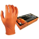 Disposable nitrile gloves M-Safe Grippaz 246OR, 50pcs box, 0,15mm thick, orange, size 9/L