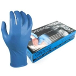 Disposable nitrile gloves M-Safe Grippaz 246BL, 50pcs box, 0,15mm thick, blue, size 10/XL