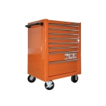 Tool trolley on wheels 1475K8 with 12 drawers 677x501x955mm Lock & Go latching system orange