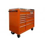 Tool trolley on wheels 1475KXL with 12 drawers 1016x501x985mm Lock & Go latching system orange