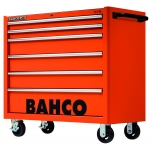 Bahco C75 KXL tool trolley on wheels with 6 drawers RED