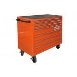 Tool trolley on wheels 1475KXL with 7 drawers 1016x501x985mm Lock & Go latching system orange