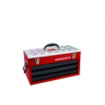 Metallic case with 3 drawers and upper tray 523x257x300mm with reinforced lid