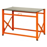 Foldable work table 1200mm with galvanized top