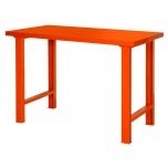 Heavy duty workbench 1500mm with steel top orange