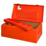 Metalinė įrankių dėžė su išimamu įdėklu, tvirta konstrukcija 830x440x340mm RAL2004