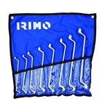 Double offset ring wrenches set 8 pcs 6-22mm with pouch Irimo