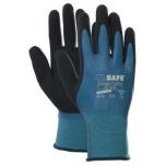 Nailoninės pirštinės su dvigumu latekso padengimu M-Safe Double Latex 50-400, dydis 7/S