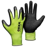 Nylon gloves with latex coating OXXA X-Grip-Lite 51-025, yellow, size 9/L