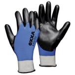 Soft polyesther goves with double nitrile coating OXXA X-Pro-Dry 51-300, size 7/S