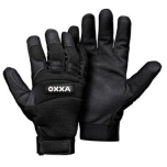 Mechanic style safety gloves OXXA X-Mech 51-600, synthetic leather, velcro, size 8/M
