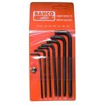 Set of long black finish offset screwdrivers for Torx head screws TR9-TR40 7 pcs