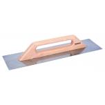 Flat trowel rectangular shape 300x150mm with wooden handle