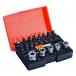 Bit set with bits, sockets, ratchet, adaptors,holder