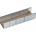 Aluminium mitre box 45°, 90° and 135° 245x60x45mm