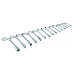 Double head socket wrenches set offset 8-24mm 15 pcs
