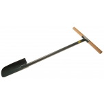 Planting auger with tubular steel shaft and wooden handle 950mm