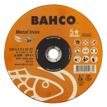 Abrazyvinis metalo ir nerūdijančio plieno pjovimo diskas Bahco A46R INOX+Fe T41 125x1.6x22.23mm