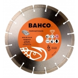 Deimantinis diskas armuotam betonui, segmentinis, Bahco 230x2.5x22.23mm