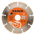 Deimantinis diskas betonui, segmentinis, Bahco 230x2.6x22.23mm