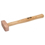 Copper mallet 1,5kg with wooden handle