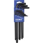 Torx L-key set 9 pcs TR10-TR50 Irimo