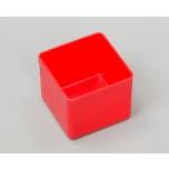Plastikinė dėžutė Allit, be dangčio, 54x54x45mm, raudona