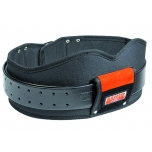 Heavy duty leather belt with cushion