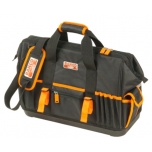 "Closed toolbag with multiple internal and external pockets and hard plastic bottom 19"" 470x230x370mm"