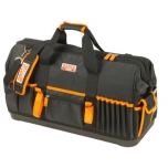"Closed toolbag with multiple internal and external pockets and hard plastic bottom 24"" 600x230x370mm"