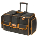 Closed toolbag with multiple internal and external pockets on wheels 660x300x400mm