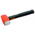 Sledge hammer with convex (domed) striking face 1100g unbreakable handle