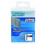 8/50mm RAPID 2.8M PP Box Brads Polypro Box
