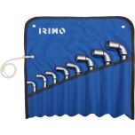 Double hexagon L-pipe double socket wrenches set 8 pcs - 8/10/11/13/14/17/19/22mm with pouch Irimo