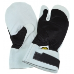 Loggers gloves with saw protection and separated right index finger, size 10