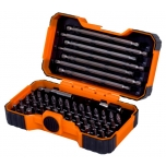"Bit set 1/4"" 54 pcs with 2 adaptors PH,PH2G,PZ,SL,Hex,TORX,TORX TR,R 25mm 45pcs, 125mm 4pcs and 150mm 3pcs"